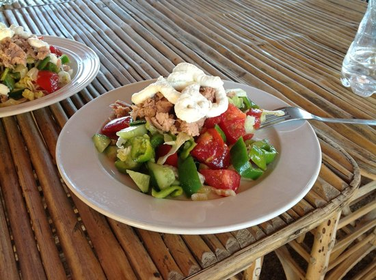 Sindbad Camp: Salad with tuna and feta :)