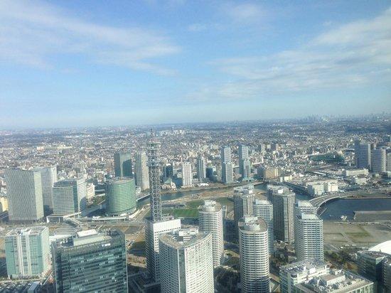 Yokohama Royal Park Hotel: 街側景色