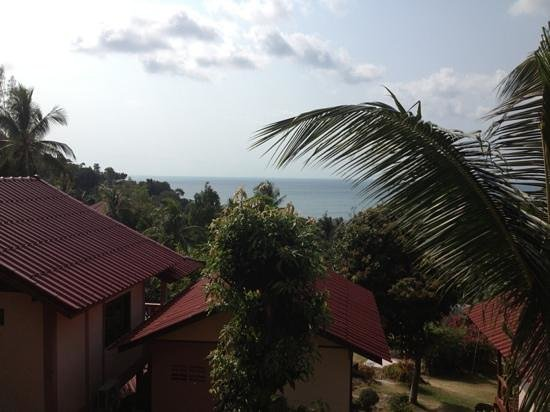J.B. Hut Bungalows: view from balcony