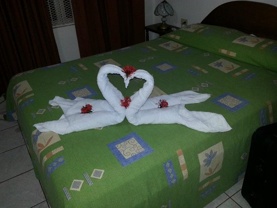 Hotel Villas Vilma: Welcome towel message