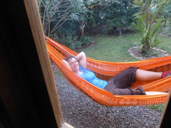 Casa Mariposa: vor dem Zimmer... hier kann man entspannen