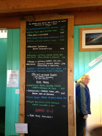 Godrevy Cafe: Snack. sandwich and wrap menu