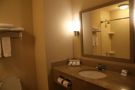 The Holiday Inn Express & Suites Marathon: Clean, Pleasant Bathroom