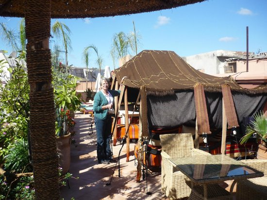Riad Dar Anika: Roof Garden with its Berber Tent
