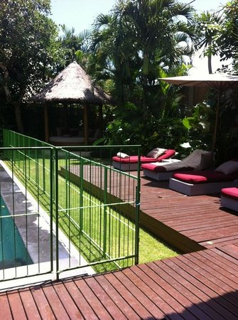Space at Bali: Railings around the pool upon request before arrival