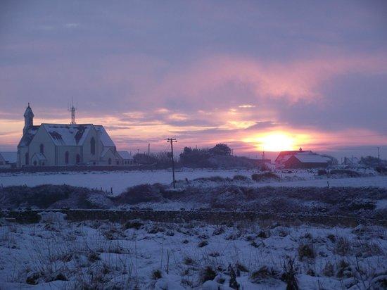 OceanSound Bed & Breakfast: winter sunset at Ocean Sound