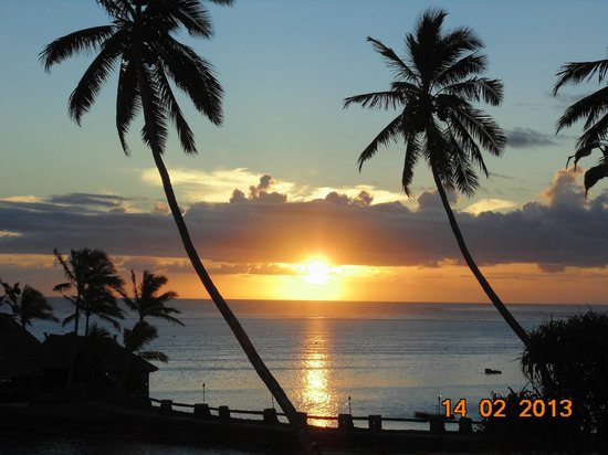 The Warwick Fiji: One of the many fabulous sunsets