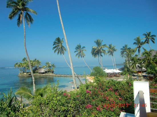 The Warwick Fiji: View to Wicked Welu Restaurant