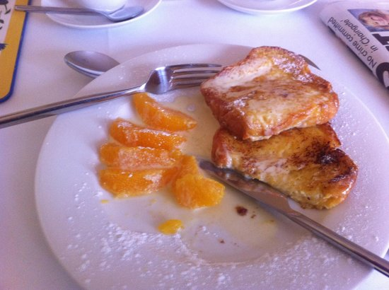 Inverglen Guest House: French toast with a difference .. Magic :)
