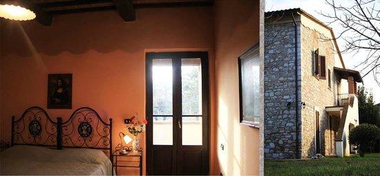 La Vallata : Camera con balcone e vista