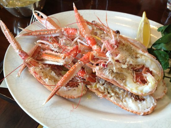 The Seahorse Restaurant: Steamed Langoustine with mayonnaise
