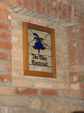 The Blue Beetroot: Sign in the dining room