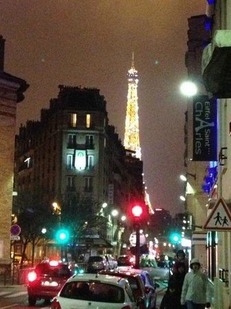 Eiffel Saint Charles: View of eiffel tower from rue saint charles