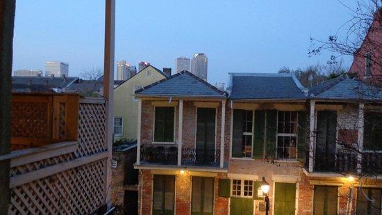Sunrise from balcony outside room 24
