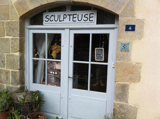 Artisan shops of Josselin : Sculpture Studio
