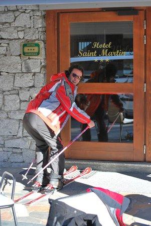Hotel Saint Martin: si arriva con gli sci ai piedi!!!