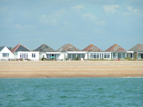 Pevensey Bay Beach: The beachfront bungalows