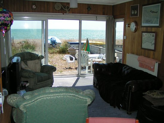 Pevensey Bay Beach: Our view from the lounge