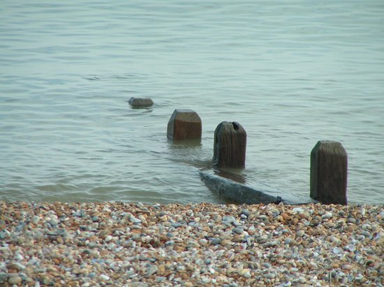 Pevensey Bay Beach: Calm sea