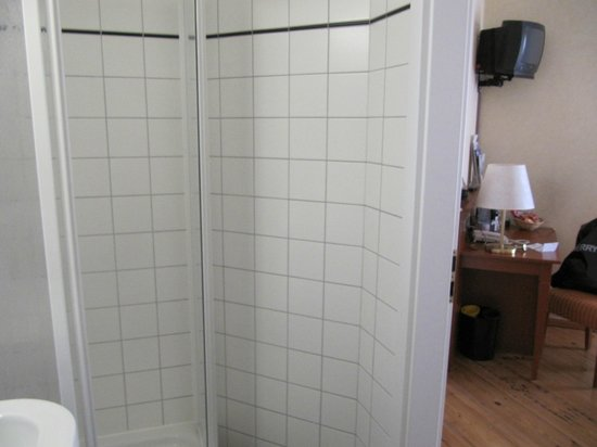 Hotel Augustinenhof: The shower - rather small and narrow