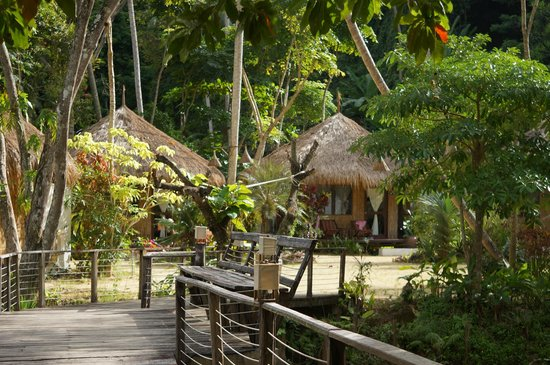Thapwarin Resort: huisjes in de jungle
