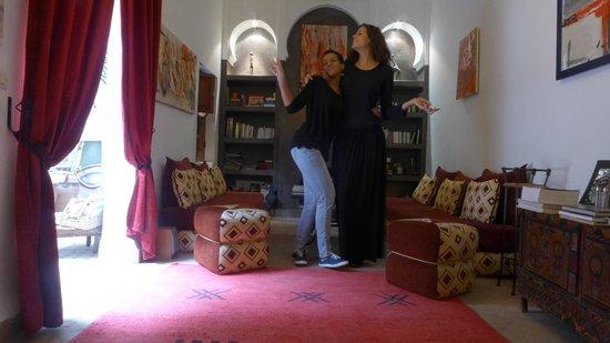 Riad Limouna: Dans le salon du riad