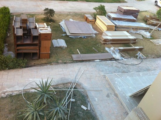 Coral Sea Waterworld Resort: From balcony - New furniture to go into part built rooms