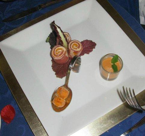 La Estancia : Serrano ham, red pepper ice cream (yes!) and Andalusian Gazpacho