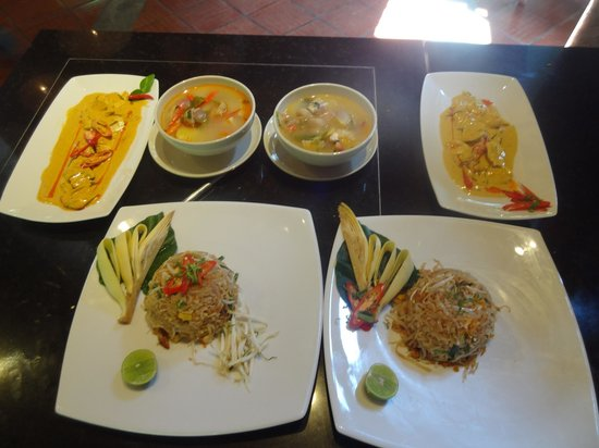 The Tubkaak Krabi Boutique Resort: This is what we cooked in our cooking lesson in the restaurant!  Delicious, and great, friendly