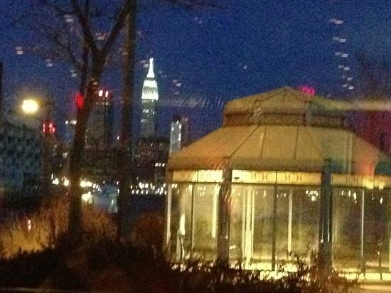 Masina Trattoria Italiana: view of the Empire State from our table