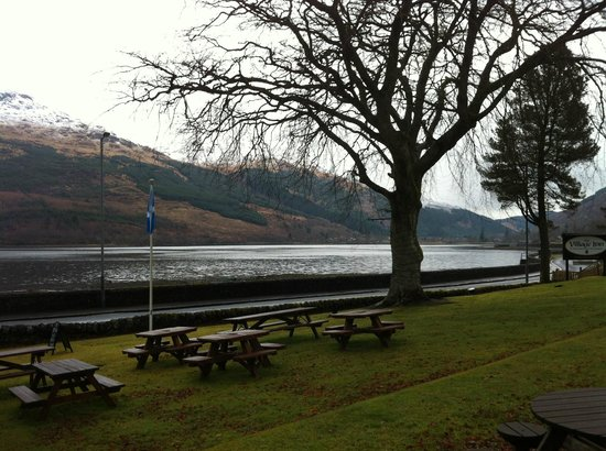 The Village Inn: View of Loch Long from front of Hotel