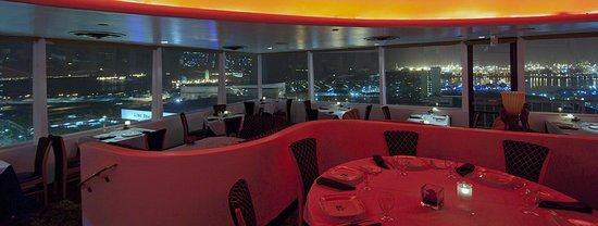 ocean view night time - Picture of The Sky Room, Long Beach ...