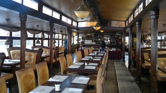Botel Matylda: Restaurant/Breakfast area