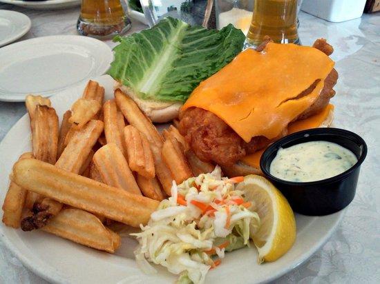 Sandbanks Bar & Grill: Fish Sandwich w Fries