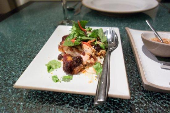 Saffron at Banyan Tree Phuket: Chicken dish