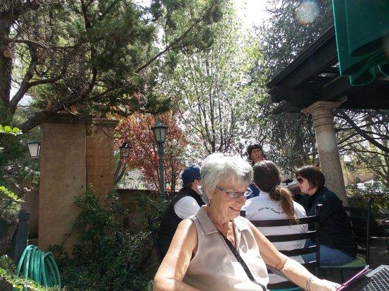 Secret Garden Cafe: The wife ejoying the sunny garden view