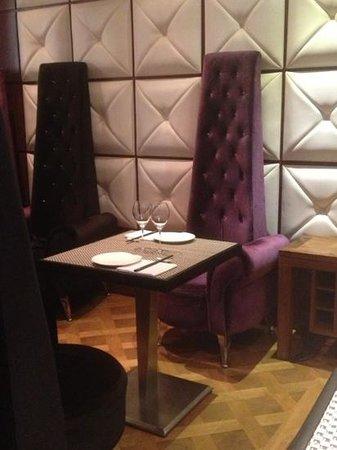 Nikki Ip's: distinctive but comfy seats!