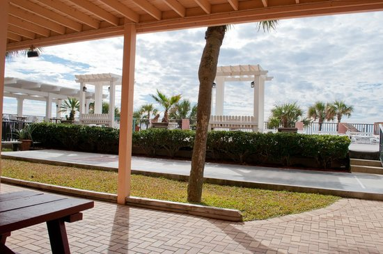 Backyard Porch Panama City Beach :  patio fotograf?a de Driftwood Lodge, Panama City Beach  TripAdvisor