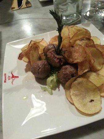 Ristorante Maxela 1: polpette con chips