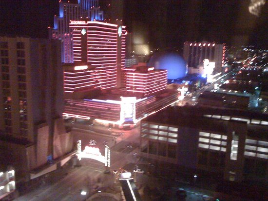 Harrah's Reno: View of Reno Arch from 16th Floor of Harrah's...