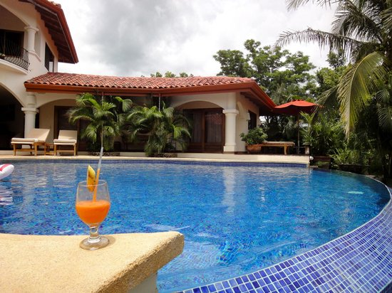 Los Altos de Eros: drink by the pool