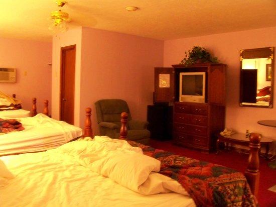 Blue Spruce Motel: across from beds