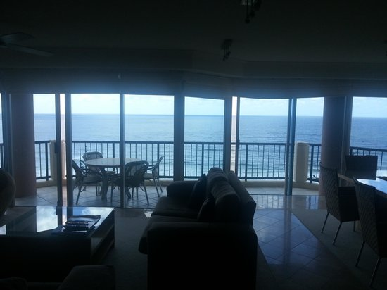 Oceana on Broadbeach: View from the living room!