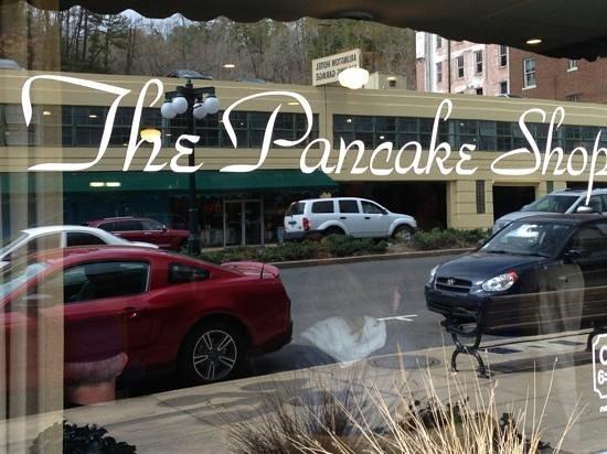 The Pancake Shop: front window