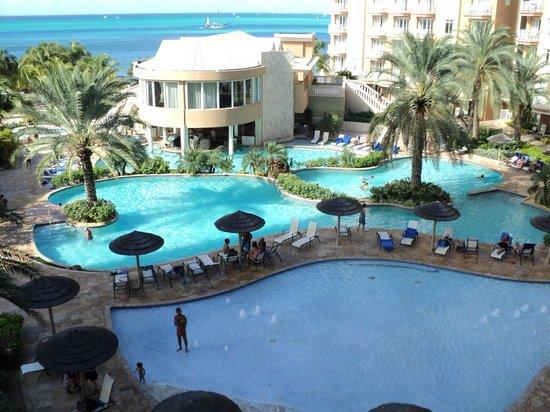 View from room 712 1st floor studio picture of divi - Divi beach aruba ...