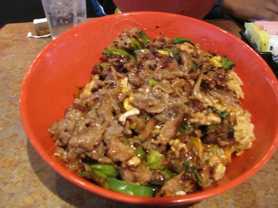 Genghis Grill: Photo of my lunch bowl!