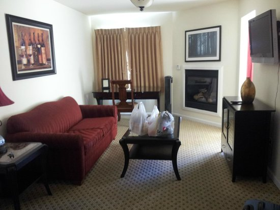 West Sonoma Inn & Spa : Living area in our suite