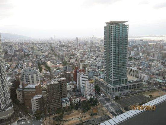 ANA คราวน์พลาซ่า โกเบ: The view Northeast, Osaka off in the distance