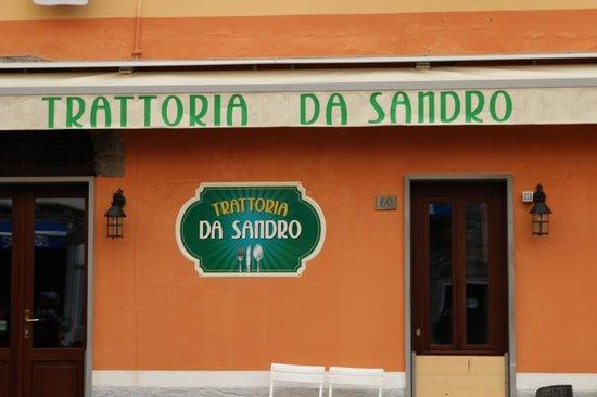 Trattoria da Sandro: new sign outside