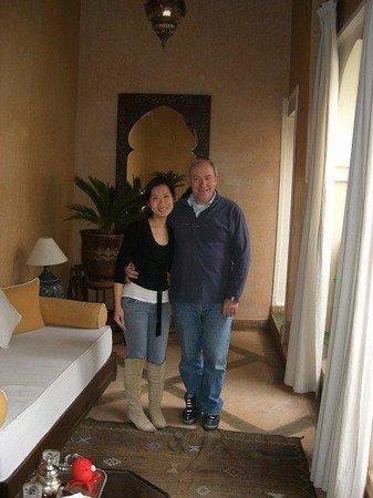Riad Dar Dialkoum: with hotel owner Jean Bernard